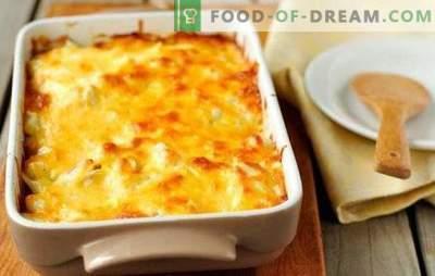 Гратин со мелено месо - печеме компири на француски! Готвење срдечна и вкусна гратин со мелено месо и домати, печурки, тиквички