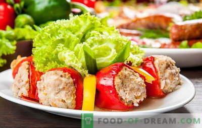 Пиперки полнети со месо и ориз - ова е идеја! Рецепти полнење и фрлање за бибер полнети со месо и ориз