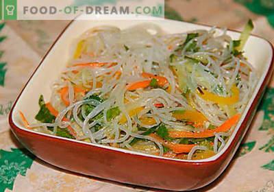 Фунхоза со зеленчук - најдобри рецепти. Како правилно и вкусно готви фанхоза со зеленчук дома.