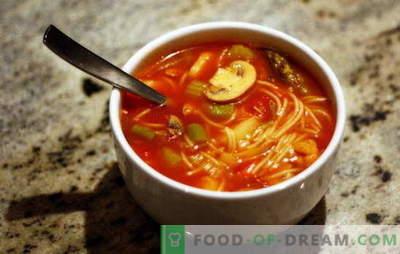 Пополнување супи: аеробатика на вкус со леснотија на подготовка. Рецепти пополнување супи со различни житни култури и зеленчук