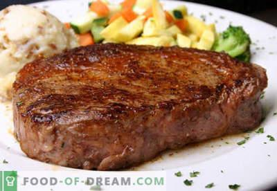 Filete - las mejores recetas. Cómo cocinar correctamente y sabroso la carne de bistec, picada y picada.