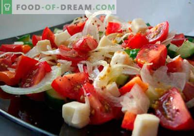 Салата од свежи зеленчук се најдобри рецепти. Како правилно и вкусно да се подготват салати од свеж зеленчук.