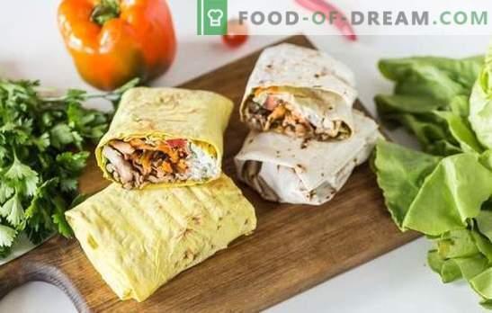 Shawarma с мляно месо: стъпка по стъпка рецепти, готварски тайни. Как да се готви вкусна шаурма с кайма