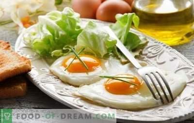 Пржени јајца пржени јајца - нежен доручек. Како да се готви пржени јајца во тава, во рерна, микробранова, multicooker