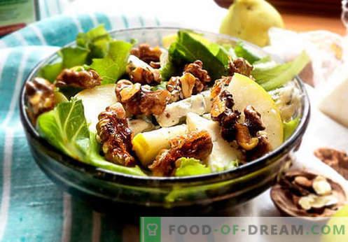Салати со круша - пет најдобри рецепти. Како правилно и вкусно салати со круша.