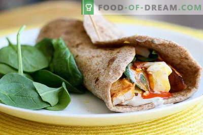 Пилешко Burrito - најдобрите рецепти. Како да правилно и вкусно готви бурито со пилешко.