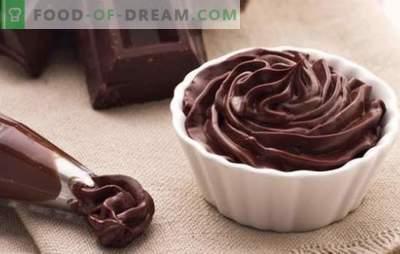 Шоколадов ганаш за покриване на тортата - рецепти и готвене. Всички правила и рецепти на шоколад ganashes за торти