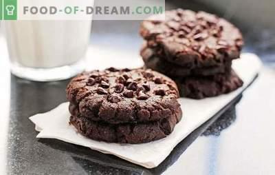 Чоколадни колачиња: чекор по чекор рецепт за вкусна печење. Готвење вкусни и ароматични чоколадни чипчиња со користење чекор по чекор рецепти
