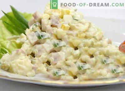 Зимска салата - најдобри рецепти. Како да правилно и вкусно готви Зимска салата.
