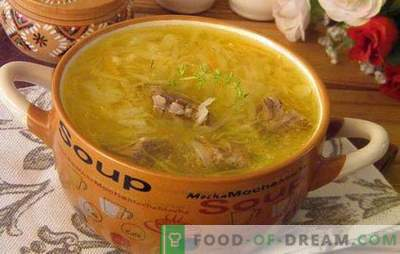 Супа од кисела зелка: подгответе ја највкусна супа! Рецепти, тајни и сложеност на готвење кисела зелка кисела зелка