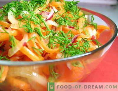 Салати од зеленчук - најдобри рецепти. Како да правилно и вкусно готви зеленчук салати.
