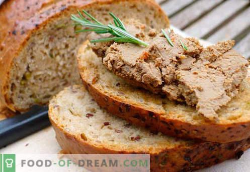 Домашна паштета - најдобри рецепти. Како правилно и вкусно готви домашна паштета.
