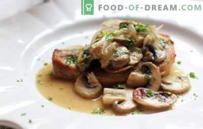 Свинско месо со печурки - сјај од месо, неземен вкус! Најдобри рецепти на вкусни свинско месо со печурки