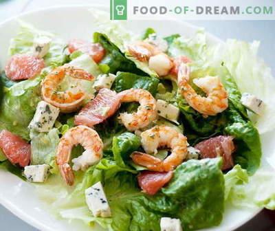 Салата од ракчиња - најдобри рецепти. Како да правилно и вкусно готви ракчиња салата.
