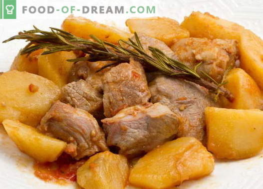 Запечен компир со месо - најдобри рецепти. Како да правилно и вкусно готви чорба компири со месо.