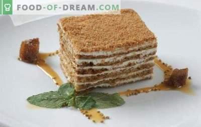 Кисело-торта - многу нежно! Едноставни рецепти за сладок и бисквит кисело-мед торта со различни креми