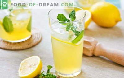 Citroendrank - energie en vitamines in één glas. Citroendrankrecepten: koele limonade of warme brouwsel