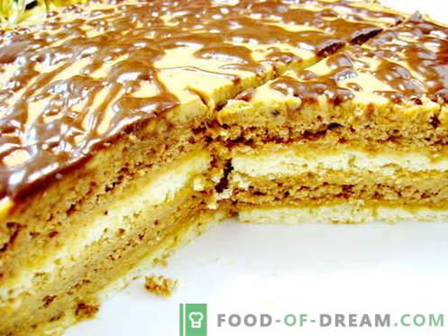 Зебра торта - најдобри рецепти. Како правилно и вкусно да готви зебра торта.