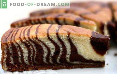 Zebra kaka - de bästa recepten. Hur till rätt och välsmakande kockzebra kaka.