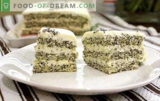 Торта со афион семиња е невообичаен и неверојатно вкусен десерт. Едноставна и оригинална афионска торта рецепти