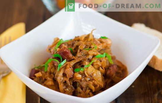 Солянка направена од зелка со месо воопшто не е солено! Рецепти solyanka со месо и зелка, печурки, компири: едноставен и комплексен