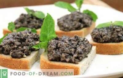 Кавијар на остриги печурки - како баба во оставата, чајната кујна. Гответе во секое време од годината домашен кавијар од печурки од остриги според сигурни рецепти