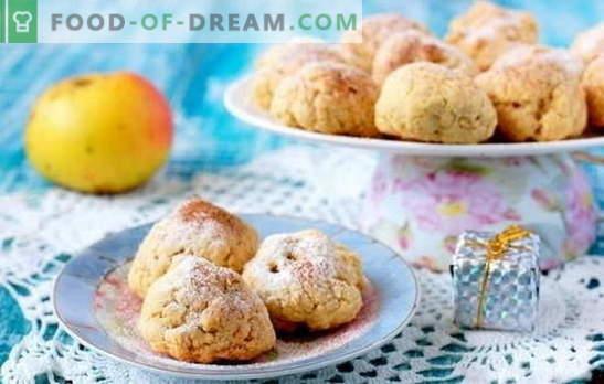 Колачиња со јаболка - оригинални колачи! Резене на рецепти од јадења со јаболка: овес, издувам, урда, посно