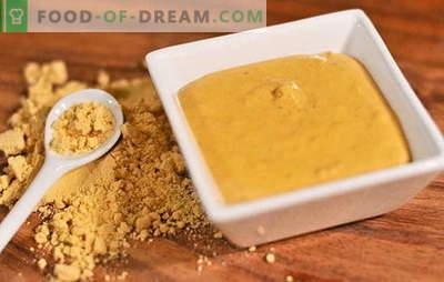 Recetas especiales para hacer polvo de mostaza en el hogar. La mostaza del polvo casero: el secreto del condimento picante