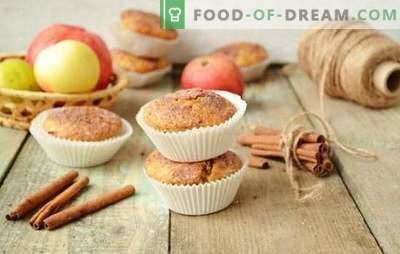 Мафини со јаболка - брзо се готват, се јадат веднаш! Едноставни рецепти на путер и диети мафини со јаболка
