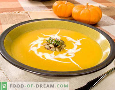 Супа од тиква - најдобриот рецепт. Како правилно и вкусно готви тиква супа.