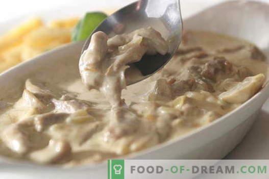 Месо во павлака - најдобрите рецепти. Како да правилно и вкусно готви месо во павлака.
