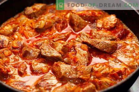 Говедски гулаш - најдобриот рецепт. Како да правилно и вкусно готви говедско месо гулаш.