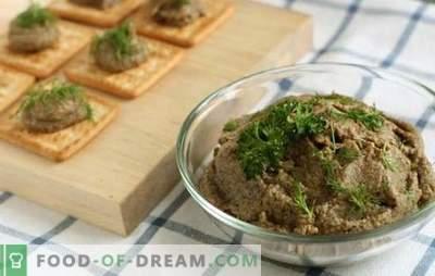 Кавијар од печурки од варени печурки: домашна технологија за конзервирање. Вкусен и разноврсен домашен варен кавијар