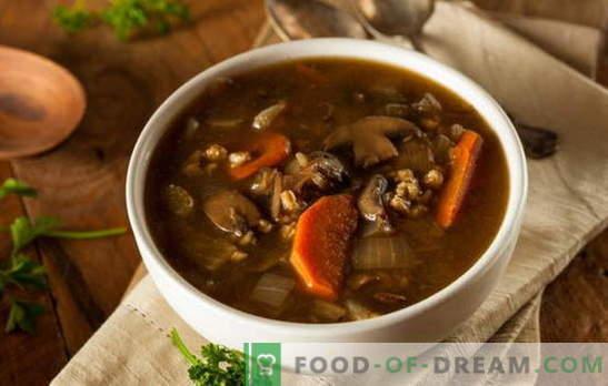 Посно супа со печурки - секогаш може да биде вкусно! Различни рецепти за посно супи со печурки и житарици, тестенини, зеленчук