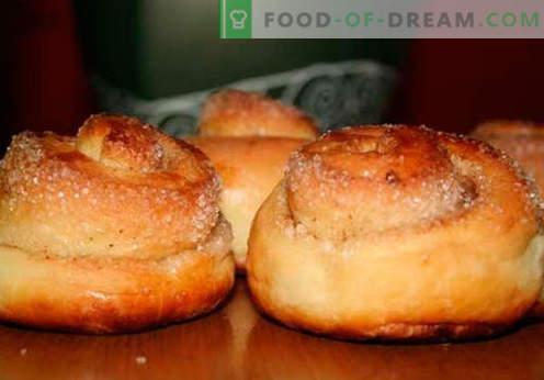 Бухти со шеќер - најдобри рецепти. Како да правилно и вкусно готви булки со шеќер дома