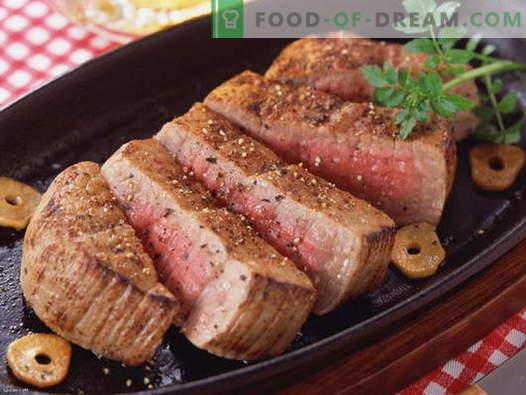 Месо во тавата - најдобрите рецепти. Како правилно и вкусно да се готви месо во тава.