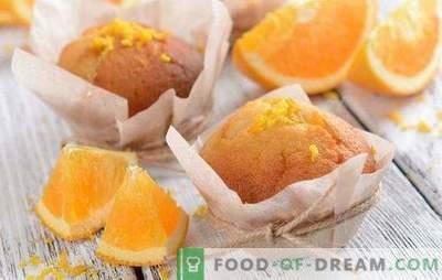 Muffin arancioni - rallegrare! Ricette di muffin arancioni profumati, teneri, dolci e ariosi