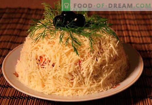 Салата со сирење - најдобрите кулинарски рецепти. Како да правилно и вкусно салата од готвеното сирење.