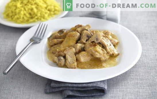Турски мирисна крем - готвевме нежна птица! Како можете да готвите мисирка во крем во тава, во рерна, бавен шпорет, садови