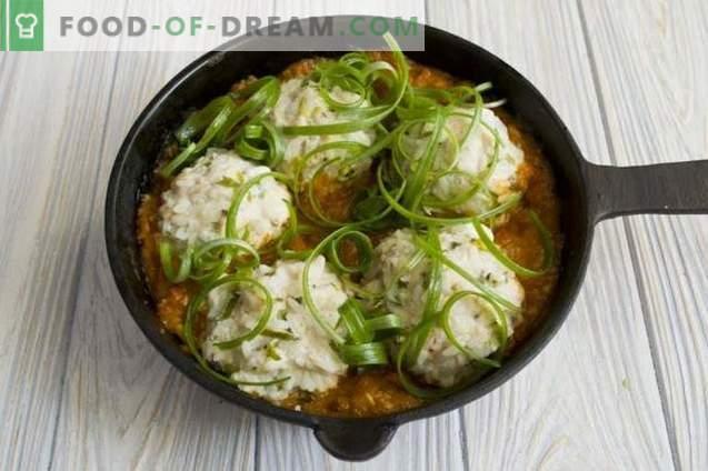 Мијалки со ориз во сос од домати
