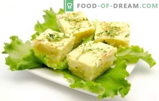 Омлет со урда е здрав појадок што секој ќе го сака. Избор на омлет рецепти со урда во рерна, multicooker и тава