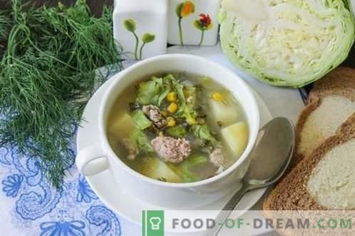 Зелена супа направена од млади зеленчуци - летен сад за секој ден