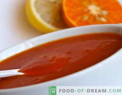 Слатка и кисела сос - најдобрите рецепти. Како правилно и вкусно да готви слатко и кисело сос.