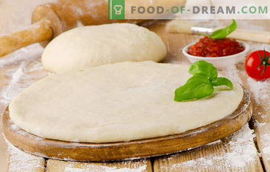 Delicious pizza dough - the best recipes. How to cook a delicious pizza dough: on yeast, on kefir, on mineral water