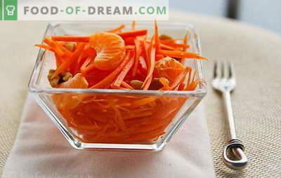 Морков салати - едноставни рецепти за сончеви закуски! Едноставни моркови салати со месо, јаболка, ореви, зеленчук