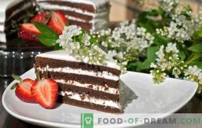 Птица-цреша торта - мирисна сибирски десерт! Рецепти за разни колачи со птичји цреши со млеко, павлака, јогурт и џем