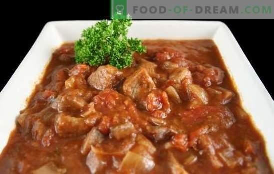 Говедски гулаш во бавен шпорет - дебела супа или месо со сос? Најдобрите рецепти за голуби гулаш во мултивак со домати, павлака