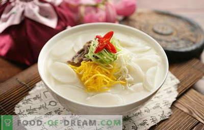 Корејски супа - мирисна, топла и силна! Корејски супи рецепти: со даикон, морска храна, тестенини, зелка, тофу