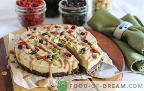 Слатка храна торта - слатка со добра. Рецепти за сурова храна колачи врз основа на ореви и суво овошје