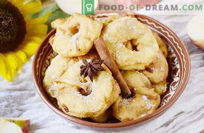 Вкусни крофни од јаболка за 20 минути. Оригинална деликатес за деца и возрасни